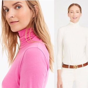 J. Crew Ivory Tissue Weight Turtleneck